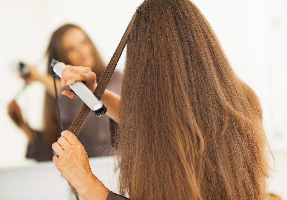 wygładzone włosy
