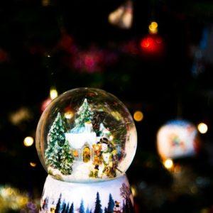 dekoracja - szklana kula