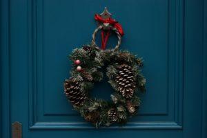 dekoracja - wieniec na drzwi