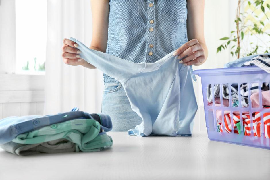 Pranie ubranek niemowląt