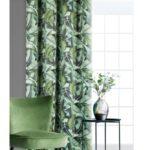 Zasłony, eurofirany-zaslona-fiorela-zielony-140x250-cm-kolka