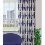 Zasłony, uniglob-zaslona-moda-niebieski-140-x-245-cm-drukowana-z-ukrytymi-szelkami